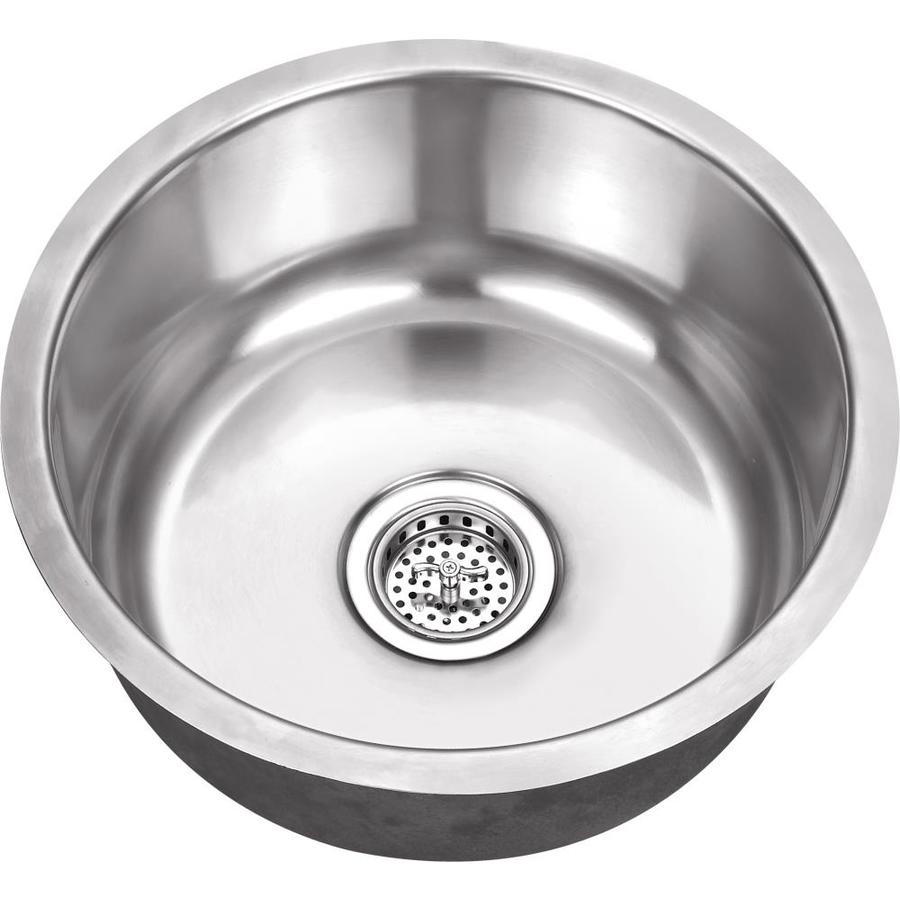 Superior Sinks 17.125-in x 17.125-in Satin Brush Stainless Steel Single-Basin-Basin Stainless Steel Undermount (Customizable)-Hole Residential Kitchen Sink