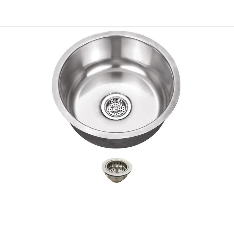 Superior Sinks 17.125-in x 17.125-in Brushed Satin Single-Basin Stainless Steel Undermount Residential Kitchen Sink