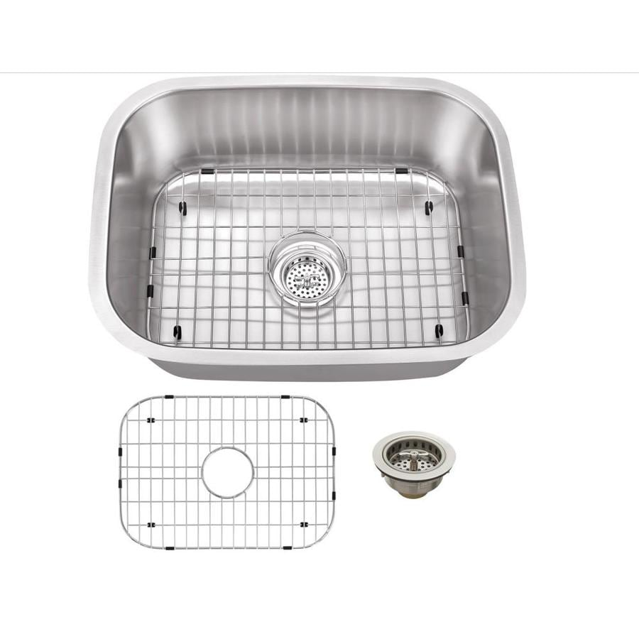 Superior Sinks 17.75-in x 23.4375-in Brushed Satin Single-Basin Stainless Steel Undermount Residential Kitchen Sink