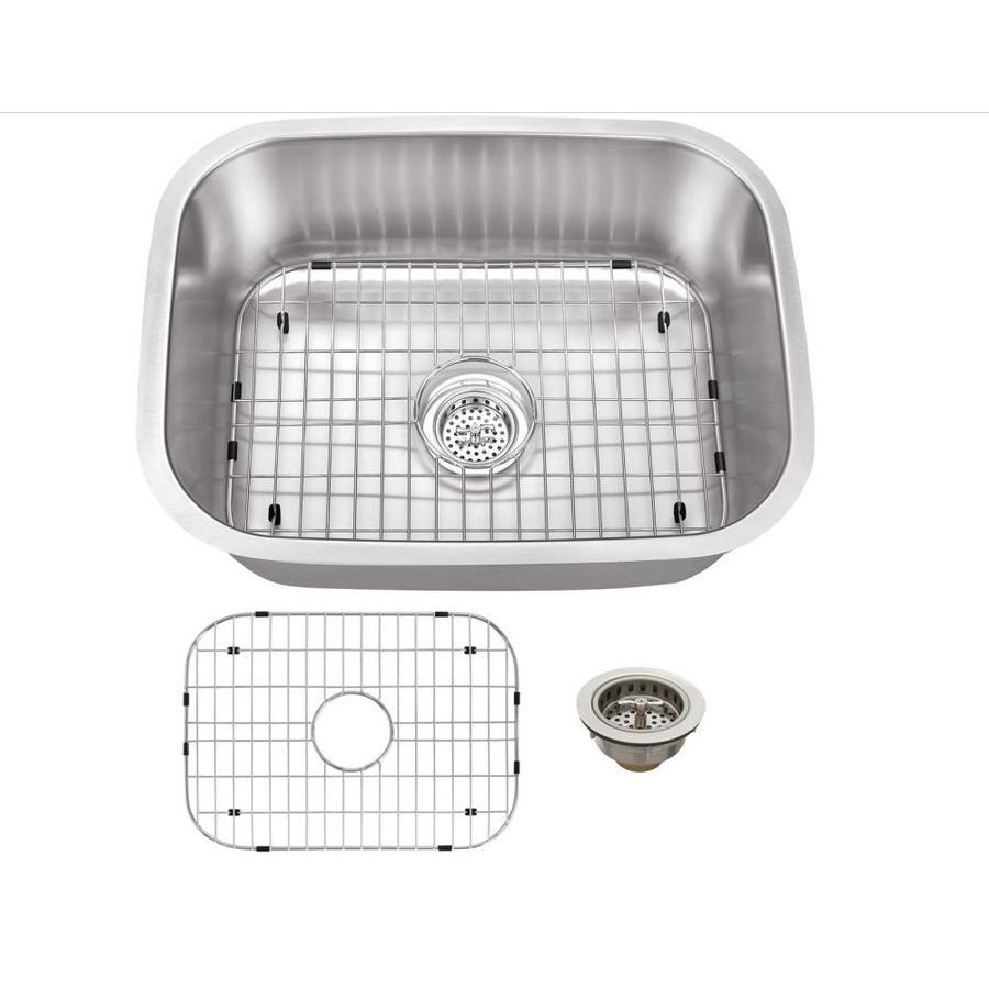 Superior Sinks 17.75-in x 23.4375-in Satin Brush Stainless Steel Single-Basin Undermount Residential Kitchen Sink