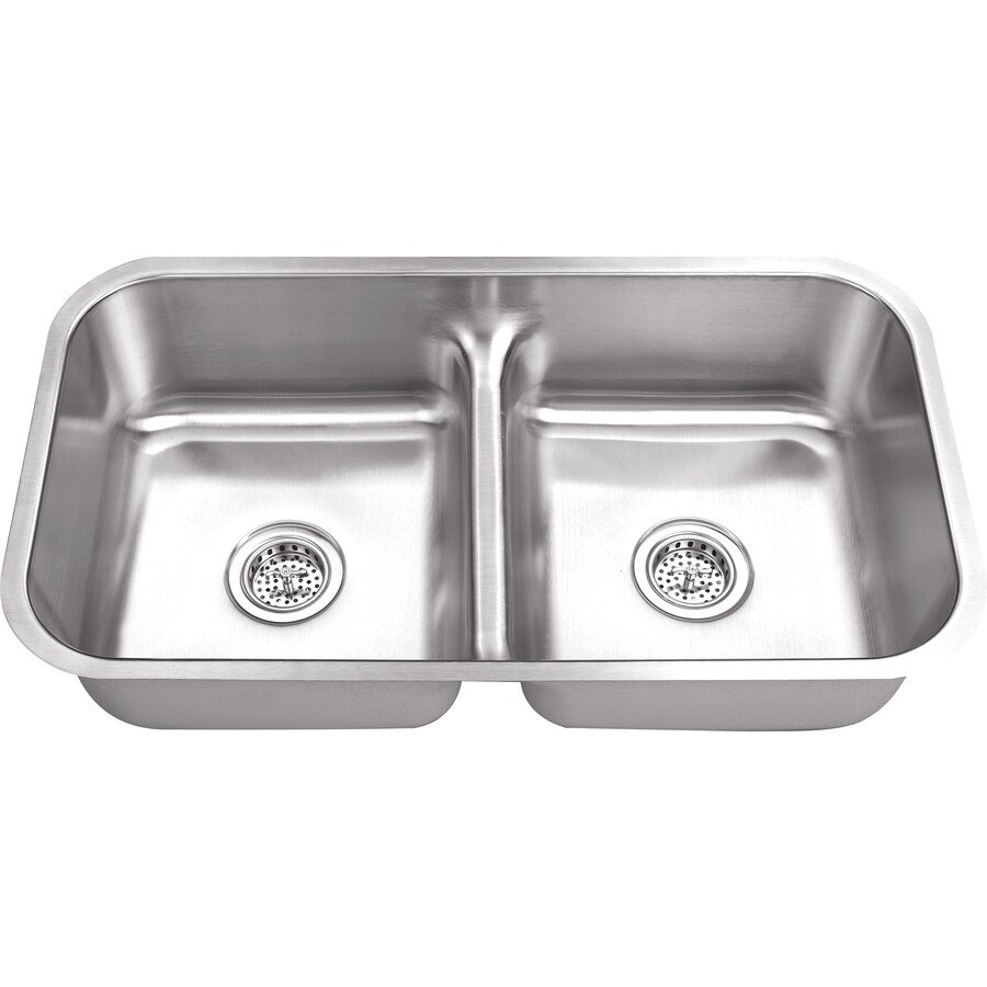 Superior Sinks 18.125-in x 32.5-in Satin Brush Stainless Steel Single-Basin-Basin Stainless Steel Undermount (Customizable)-Hole Residential Kitchen Sink