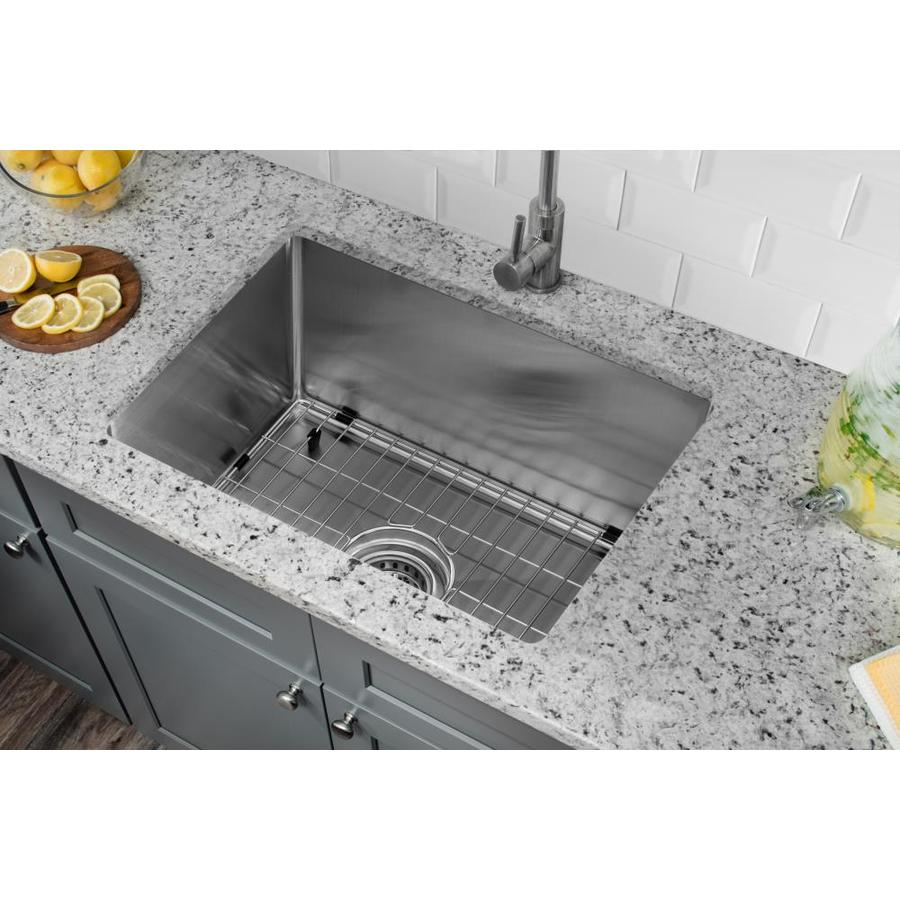 Superior Sinks 20-in x 15-in Brushed Satin Single-Basin-Basin Stainless Steel Undermount (Customizable)-Hole Residential Kitchen Sink