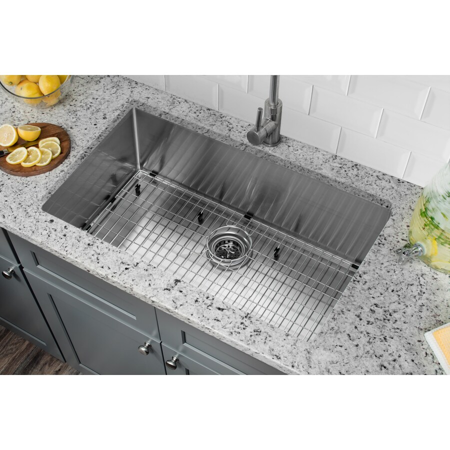 Superior Sinks 19-in x 32-in Satin Brush Stainless Steel Single-Basin Undermount Residential Kitchen Sink