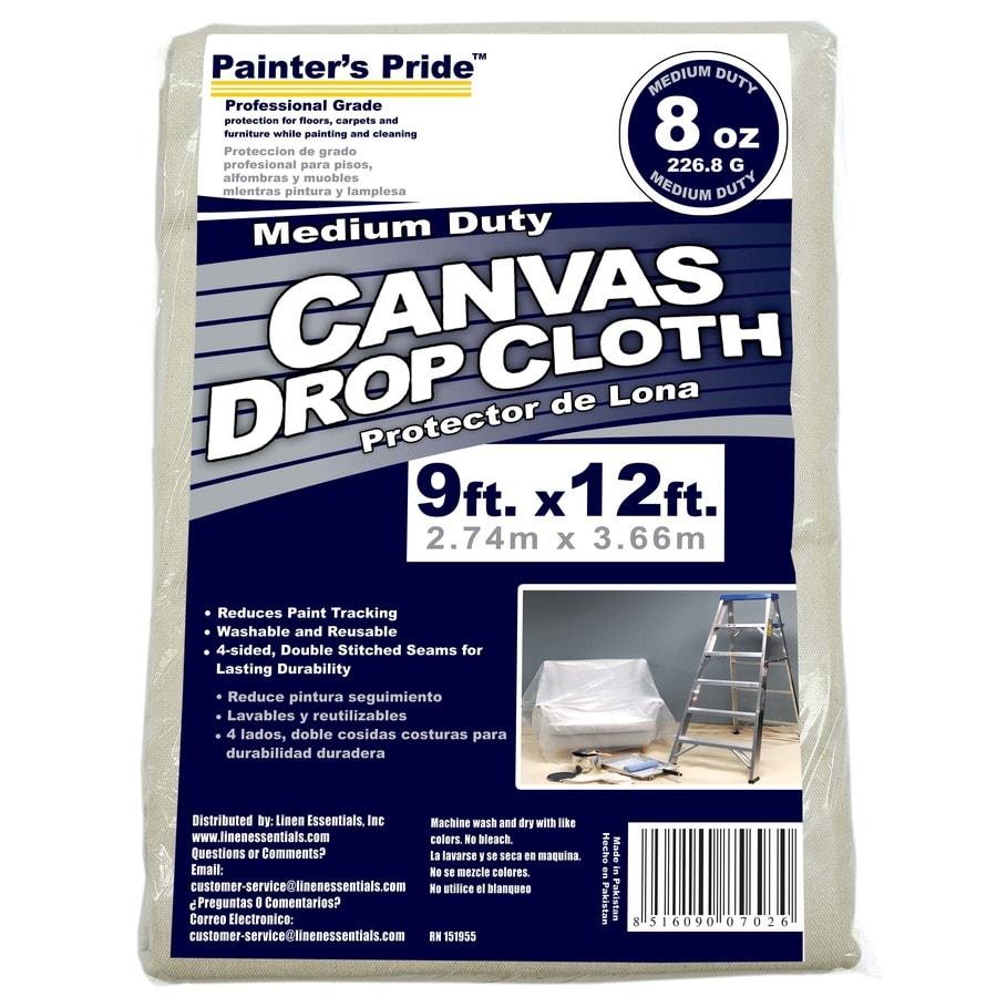 Painter's Pride 8-oz Canvas Drop Cloth (Common: 9-ft x 12-ft; Actual 9-ft x 12-ft)