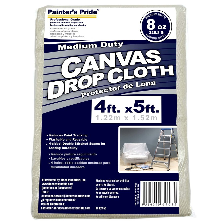 Painter's Pride 8-oz Canvas Drop Cloth (Common: 5-ft x 4-ft; Actual 5-ft x 4 Feet)