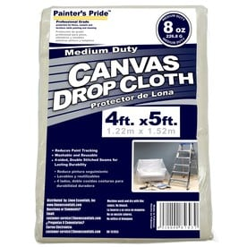 Painter's Pride 8-oz Canvas 5-ft x 4-ft Drop Cloth