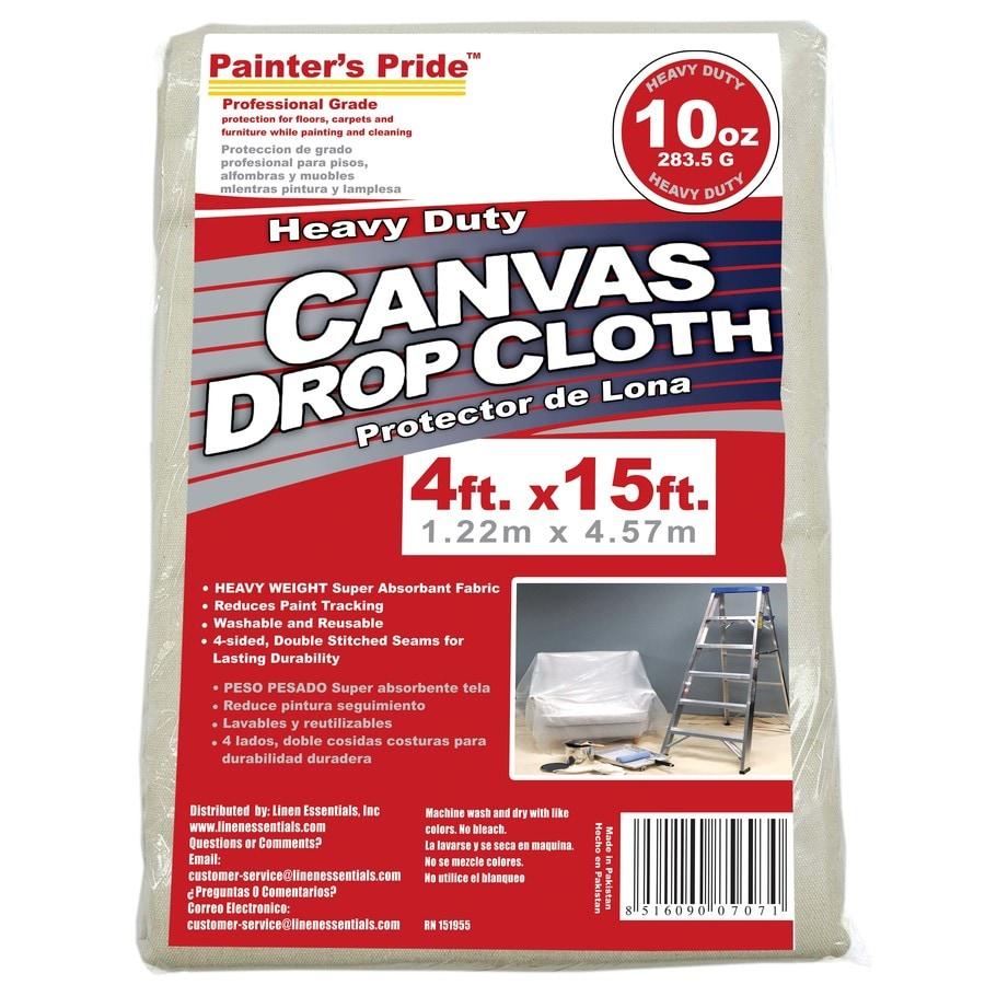 Painter's Pride 10-oz Canvas Drop Cloth (Common: 4-ft x 15-ft; Actual 4-ft x 15-ft)