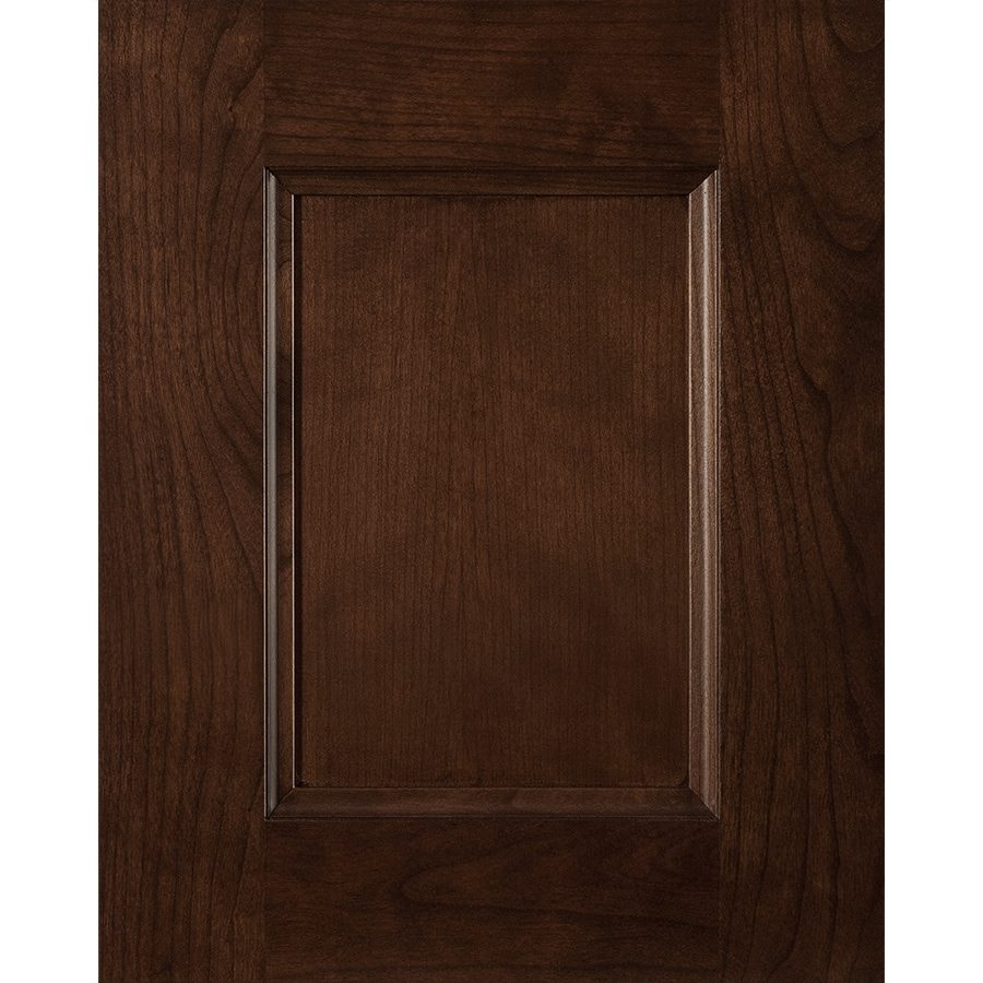 Latitude Deco 15-in x 12-in Toffee Stained Cherry Square Cabinet Sample