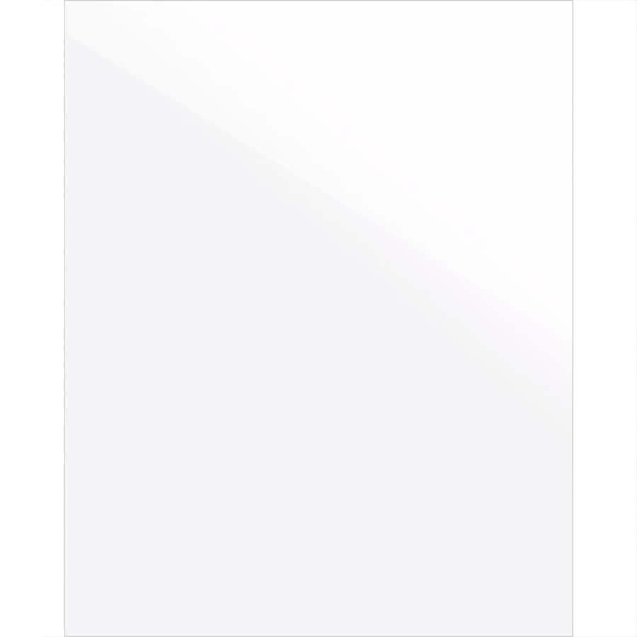 Latitude Echo 12-in x 15-in Bianco Gloss Slab Cabinet Sample