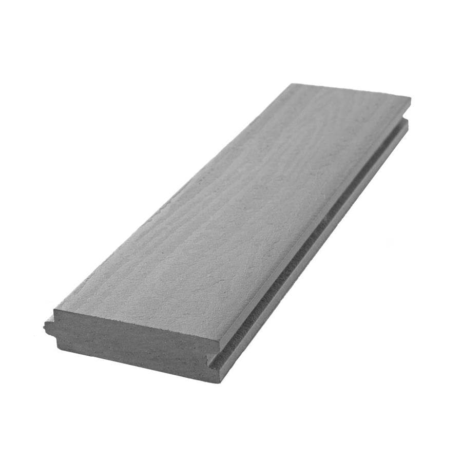 Aeratis (Common: 1-in x 4-in x 16-ft; Actual: 0.875-in x 3.125-in x 16-ft-ft) Battleship Gray PVC Porch Flooring