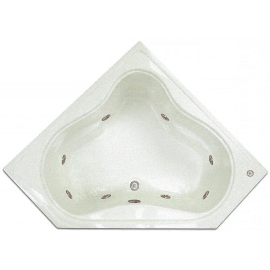 Shop home and garden home 54 in white acrylic drop in for 5 ft tub dimensions