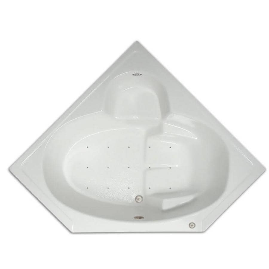 Home and Garden Home 60-in White Acrylic Drop-In Air Bath with Center Drain