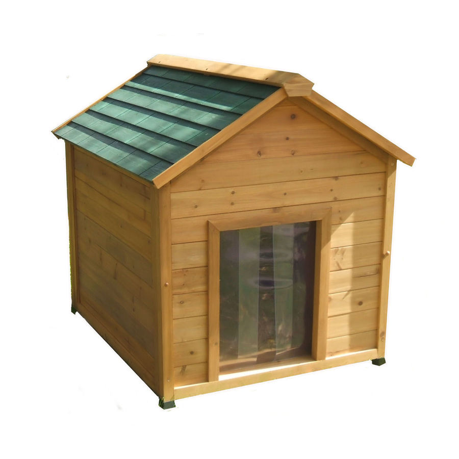 Shop x large insulated cedar dog house at lowescom for Insulated dog houses for large dogs
