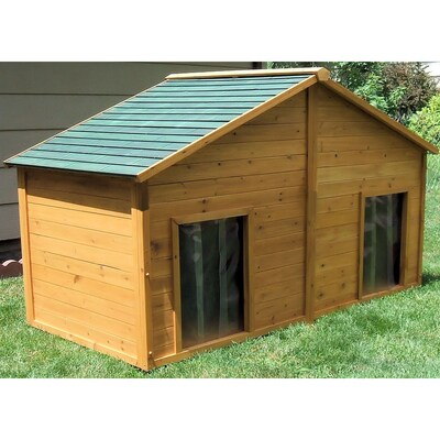 Insulated Duplex Dog House At Lowes