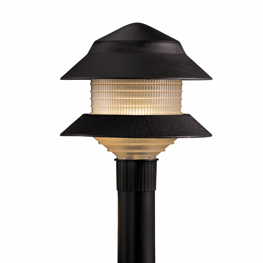 Shop portfolio 4 watt black low voltage incandescent path for Low voltage walkway lighting sets