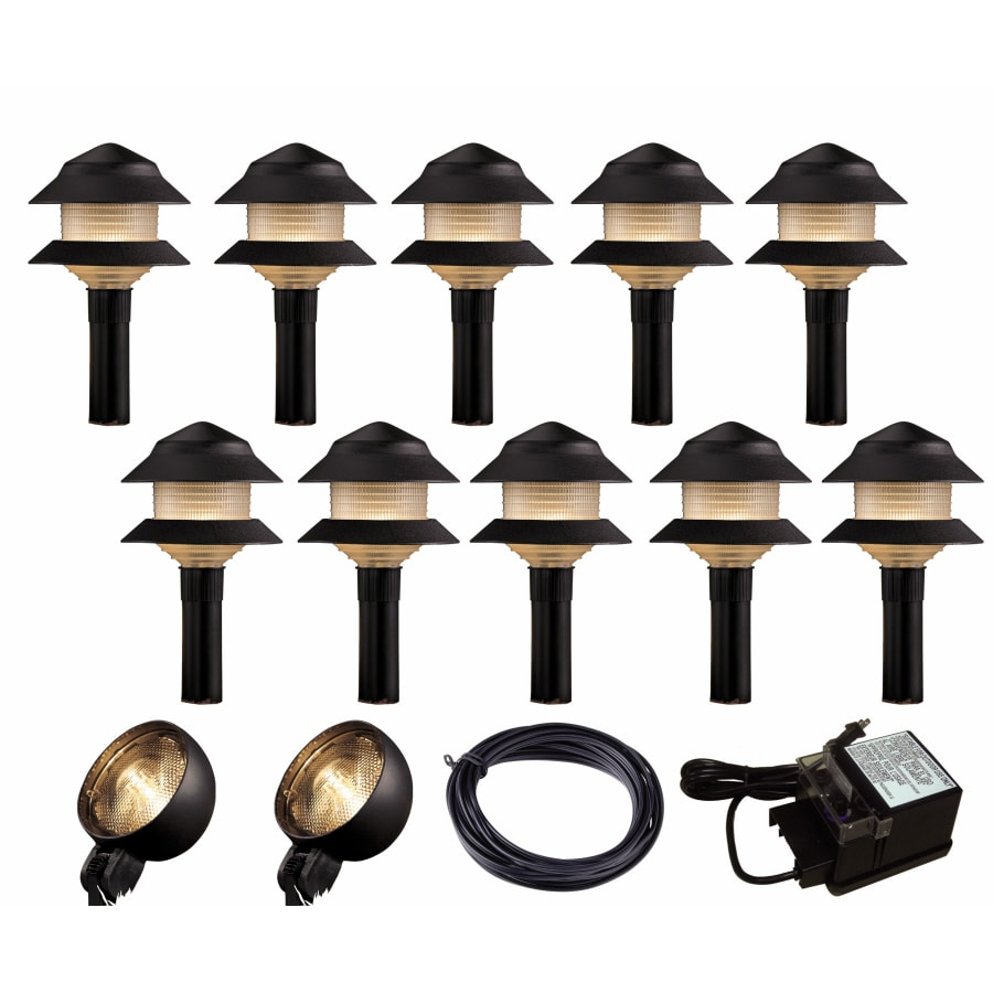 Shop Portfolio Black Path Light Kit at Lowes.com