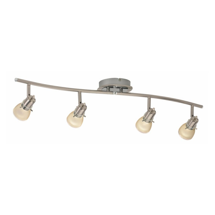 Portfolio 4 Light Brushed Nickel Traditional Track Lighting Fixture
