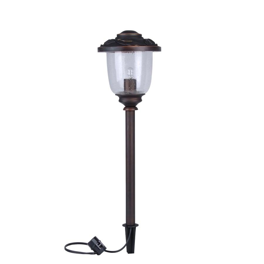 Shop portfolio 11 watt specialty bronze low voltage for Low voltage walkway lights