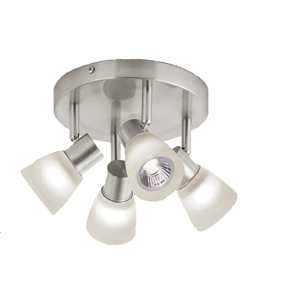 Style Selections 4-Light 7.87-in Brushed Nickel Dimmable