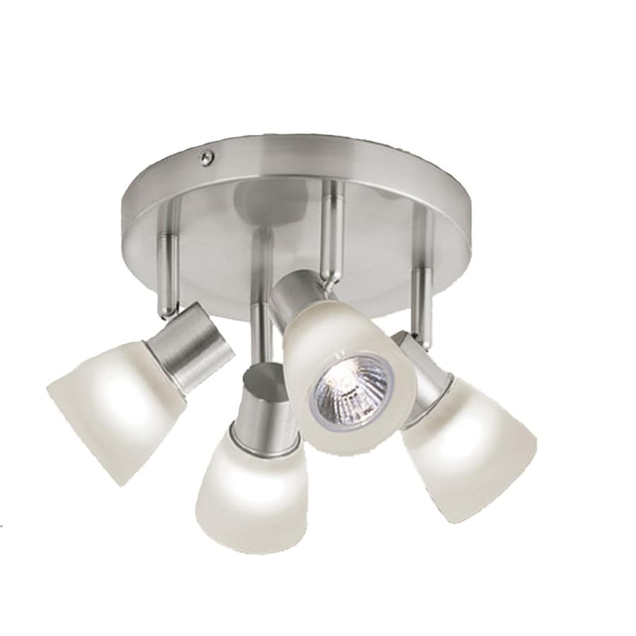 Shop Style Selections 4 Light Brushed Nickel Dimmable Flush Mount Fixed Track Light Kit