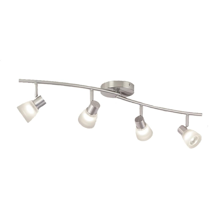 Shop fixed track lighting kits at lowes style selections 4 light 335 in brushed nickel fixed track light kit arubaitofo Image collections