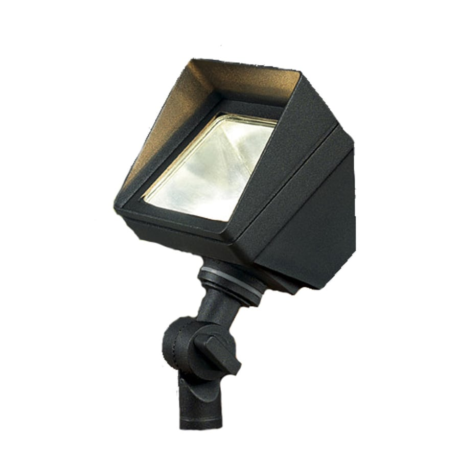 Shop Portfolio Black Low Voltage 20 Watt 20w Equivalent Halogen Landscape Flood Light At