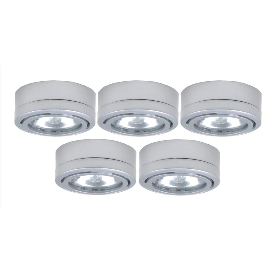 Shop utilitech 5 pack 26 in under cabinet xenon puck light at lowes utilitech 5 pack 26 in under cabinet xenon puck light mozeypictures Images