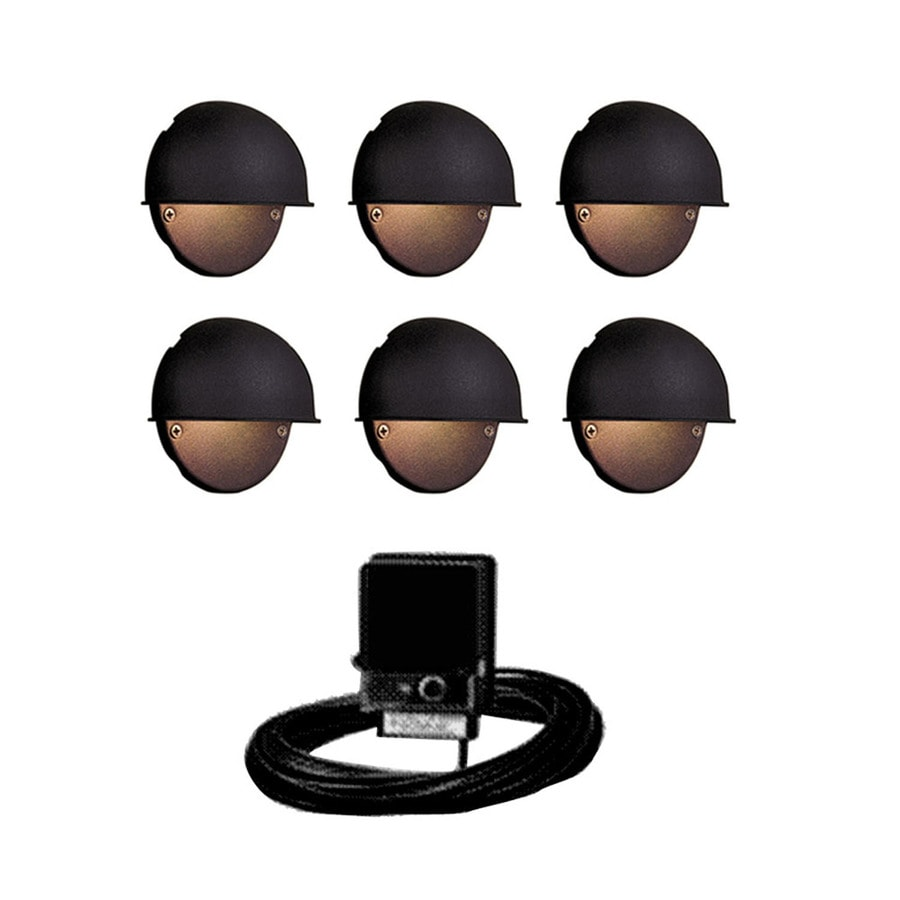 Shop portfolio black low voltage incandescent railing deck light portfolio black low voltage incandescent railing deck light kit aloadofball Images