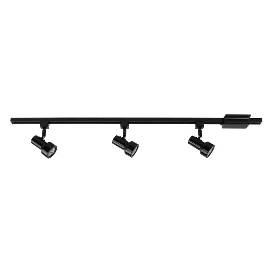 black track lighting fixtures. Project Source 3-Light 42-in Black Step Linear Track Lighting Kit Fixtures S