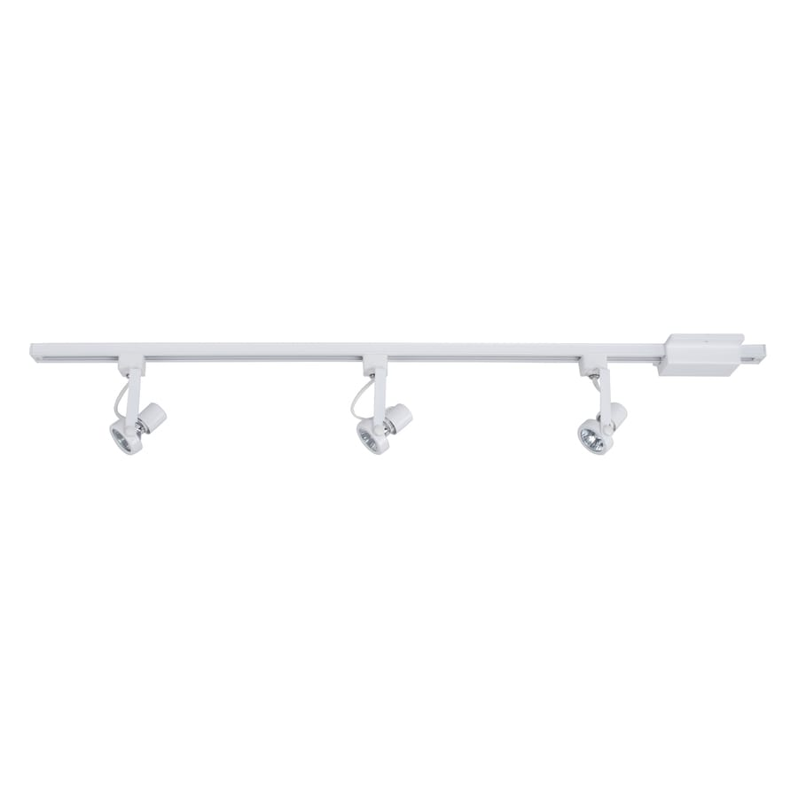 Project Source 3-Light 42-in White Gimbal Linear Track Lighting Kit