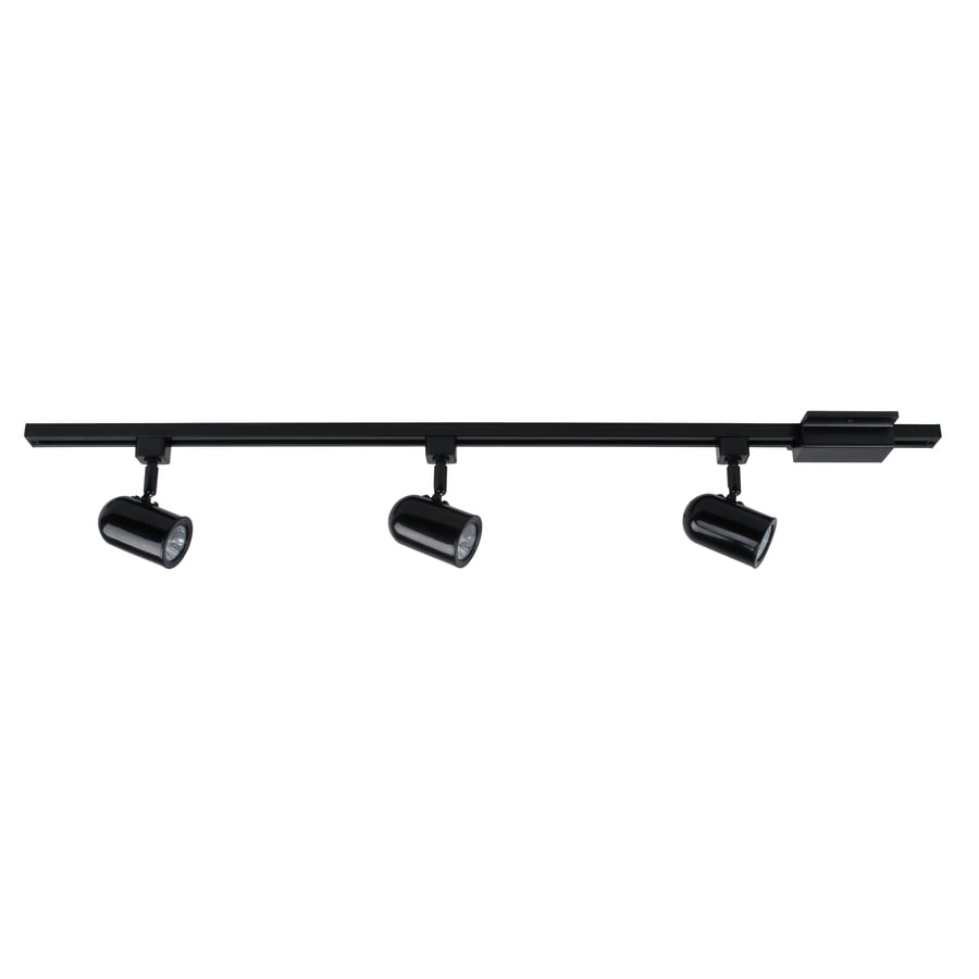 black track lighting. project source 3light 42in roundback linear track lighting kit black c