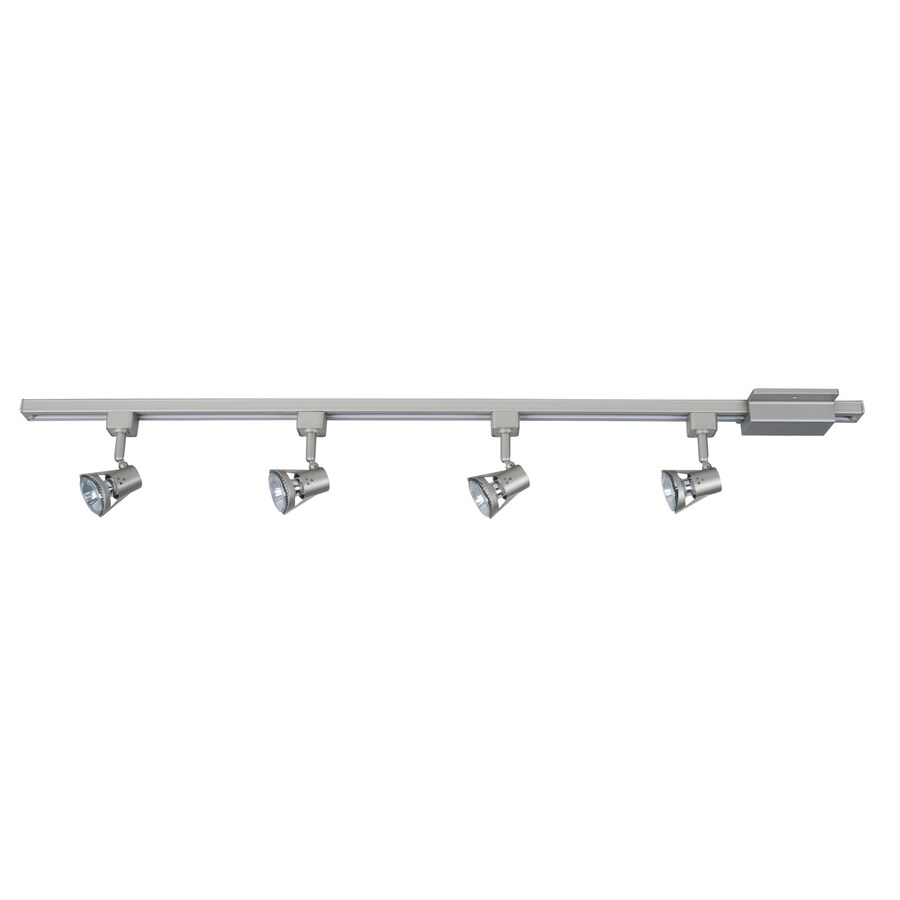Project Source 4-Light 42-in Nickel Dimmable Gimbal Linear Track Lighting Kit  sc 1 st  Loweu0027s & Shop Project Source 4-Light 42-in Nickel Dimmable Gimbal Linear ...