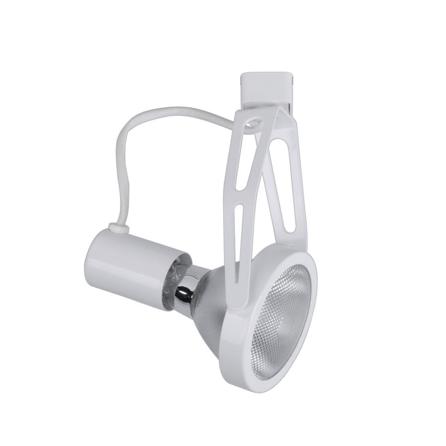Project Source 1-Light White Gimbal Linear Track Lighting Head