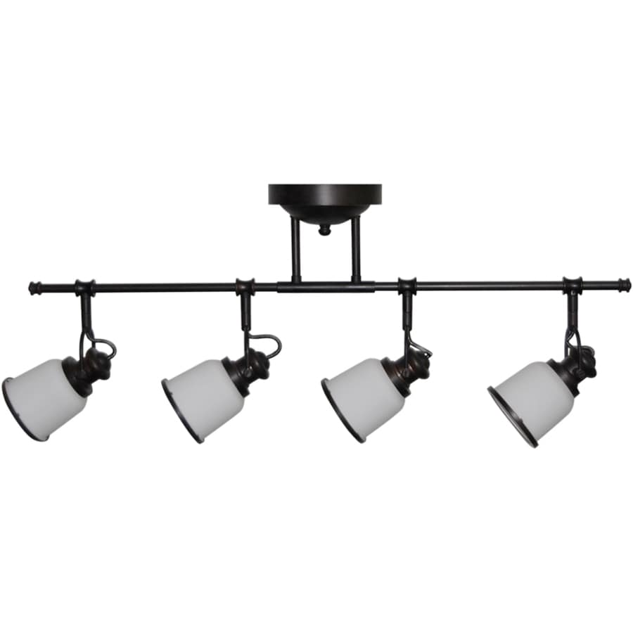 allen + roth Northroe 4-Light 31.5-in Oil Rubbed Bronze LED Fixed Track Light Kit