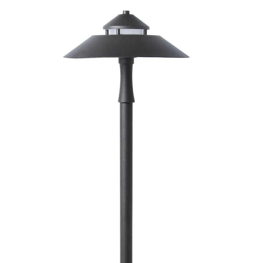 Shop path lights at lowes portfolio 7 watt specialty textured bronze low voltage led path light aloadofball Image collections