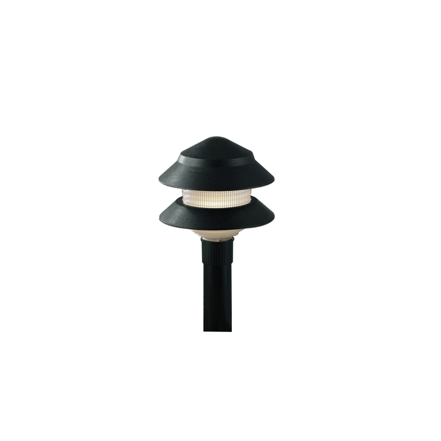 Portfolio 4-Watt Black Low Voltage Incandescent Path Light