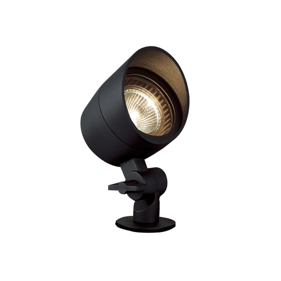 Portfolio 35-Watt Black Low Voltage Halogen Spot Light