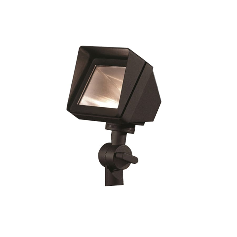 Shop Portfolio 20 Watt 20w Equivalent Black Low Voltage Halogen Landscape Flood Light At