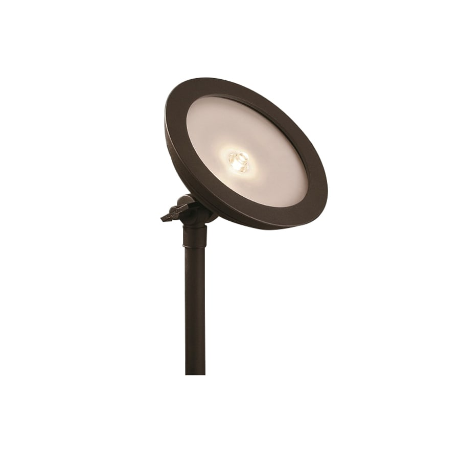 textured bronze low voltage led landscape flood light at