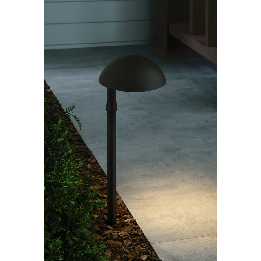 portfolio 3 watt specialty textured bronze low voltage led path light. Black Bedroom Furniture Sets. Home Design Ideas