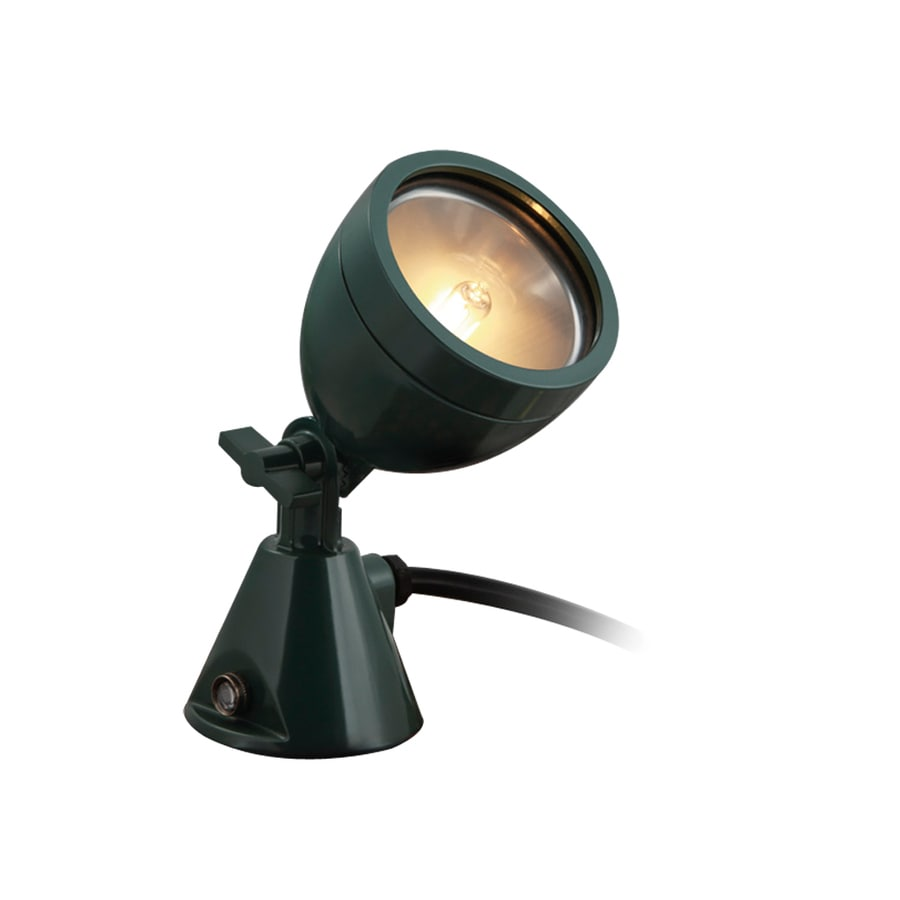 Portfolio 75-Watt (75 W Equivalent) Green Line Voltage Plug-in Halogen Landscape Flood Light