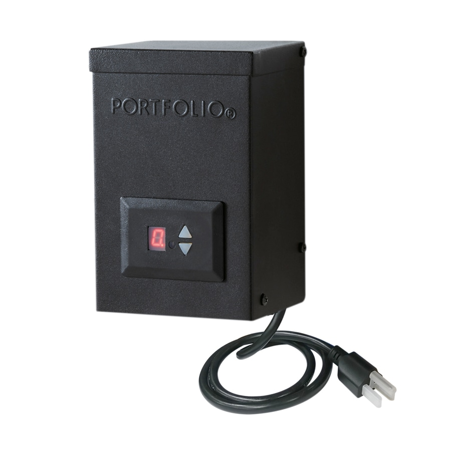 portfolio 60 watt 12 volt multi tap landscape lighting transformer. Black Bedroom Furniture Sets. Home Design Ideas