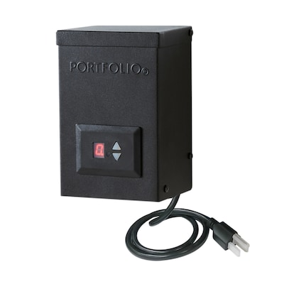 12 Volt Multi Tap Landscape Lighting Transformer With Digital Timer And Dusk To Dawn Sensor