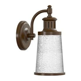 allen + roth 15.5-in H Bronze Dark Sky LED Outdoor Wall Light