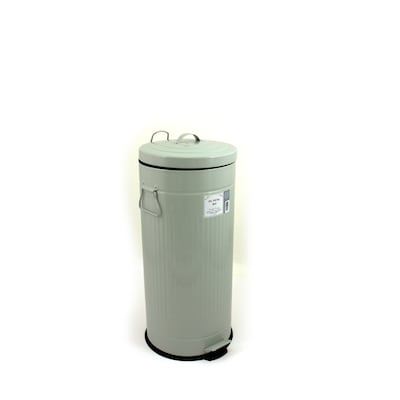 Heritage 30-Liter Duck Egg Blue/Green Metal Trash Can with Lid
