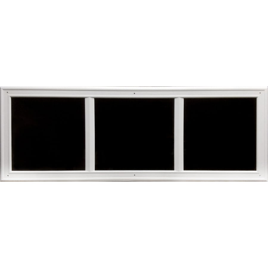 Coach House Accents 45.5-in White Mold-in-Color Plastic Garage Door Simulated Window