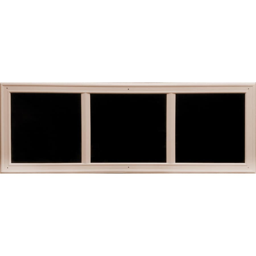Shop Coach House Accents 45.5-in Sandstone Mold-in-Color Plastic Garage Door Simulated Window at ...