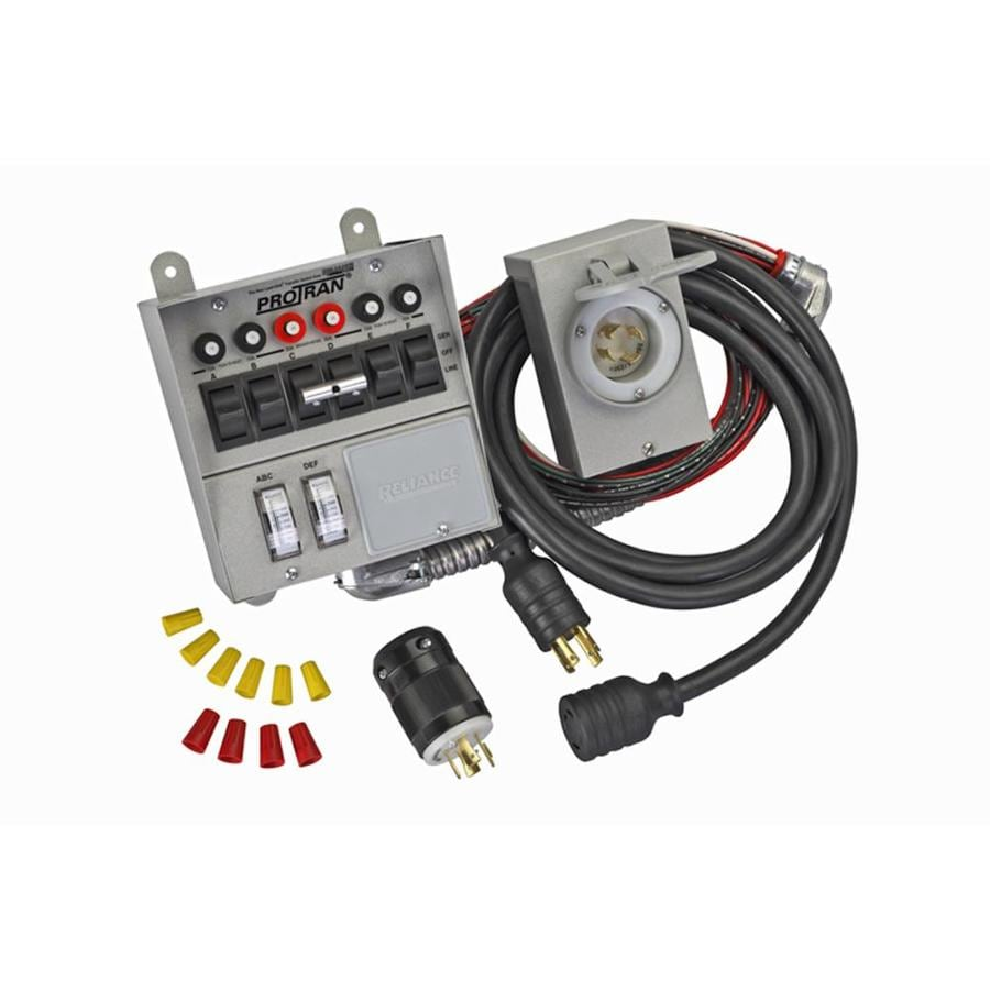 Reliance 6-Circuit Transfer Switch Kit with Power Inlet Box