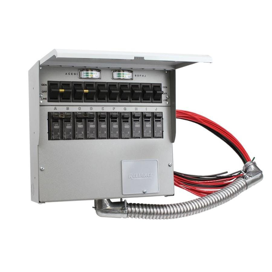 Reliance 50-Amp 10-Circuit Transfer Switch