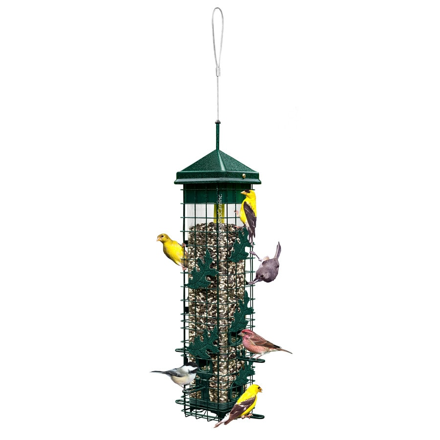 Squirrel Solutions Metal Squirrel-Resistant Tube Bird Feeder
